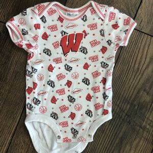 NFL One Pieces - 3 Wisconsin Badgers & Packers Onesies